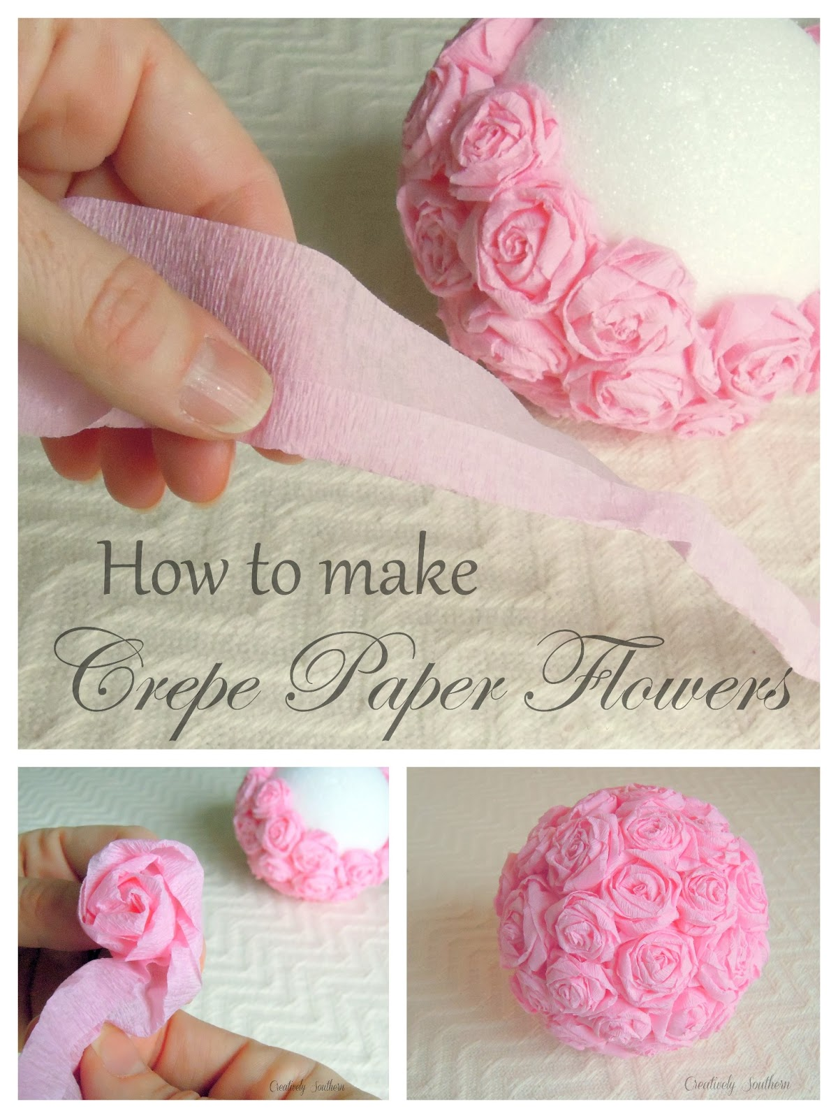 Crepe paper flowers for an elegant craft idea for How to make craft