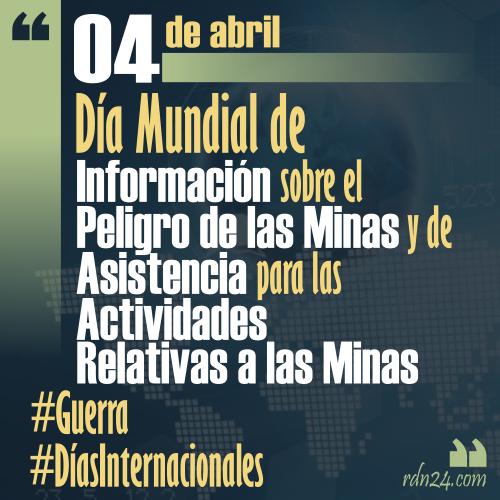 4 de abril – Día Internacional de Información sobre el Peligro de las Minas y de Asistencia para las Actividades Relativas a las Minas #DíasInternacionales