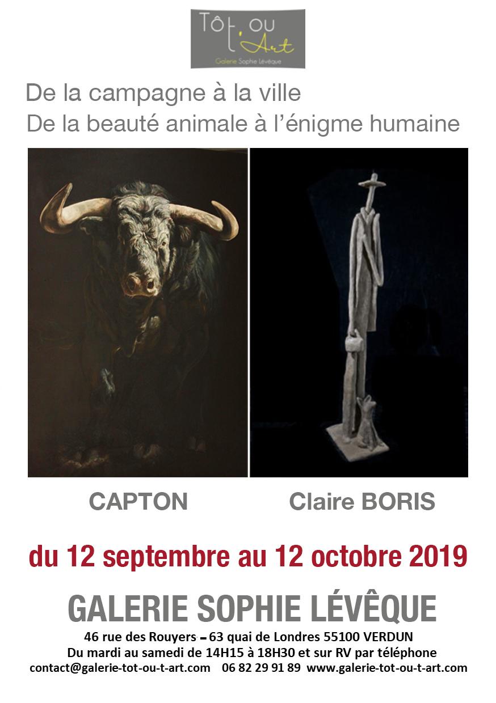 VERDUN : CAPTON ET CLAIRE BORIS A LA GALERIE SOPHIE LEVEQUE-TOT OU T'ART