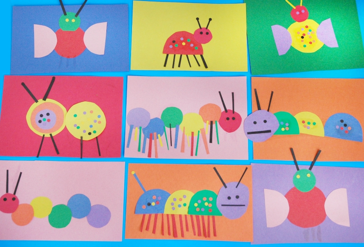 Invitation to create build a bug what can we do with for Bugs arts and crafts