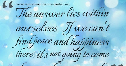 peace and happiness inspirational picture quotes