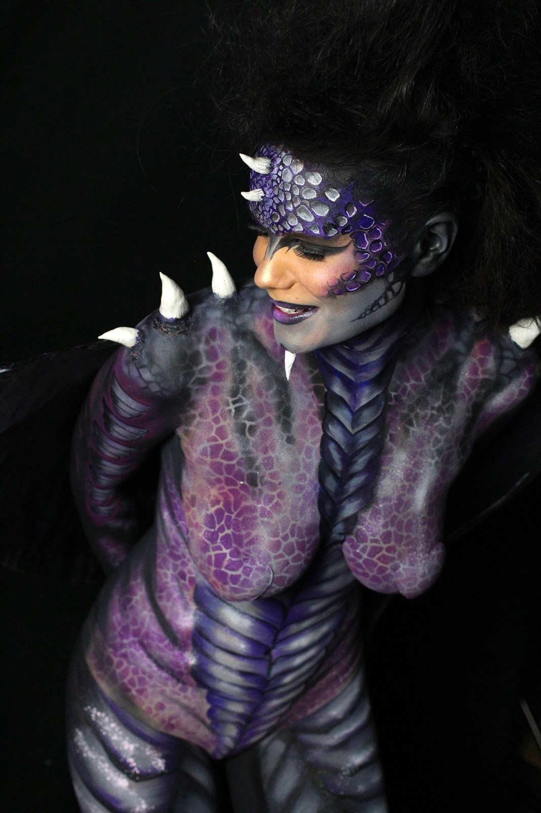 Make-up artist Zoe Newlove teams up with body painter Anna Lingis to bodypaint a Mythical Dragon.