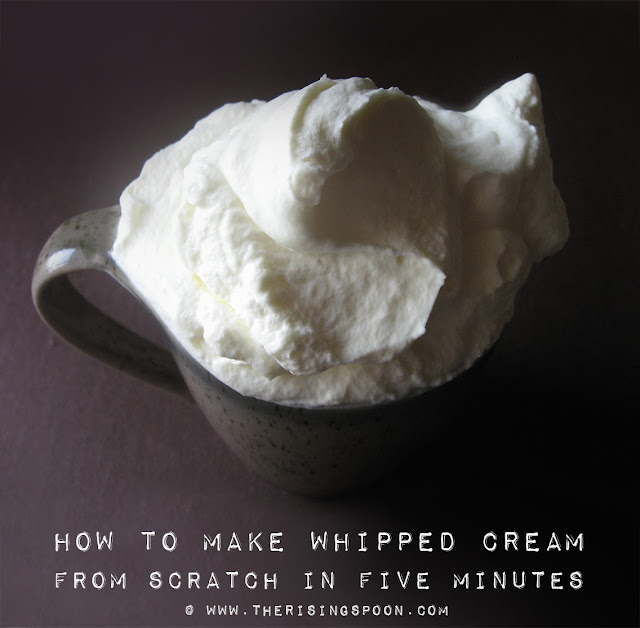 Homemade Whipped Cream Recipe