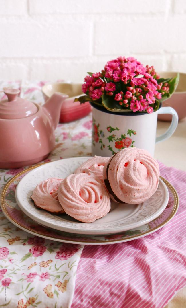 Galletas Rosas de Merengue
