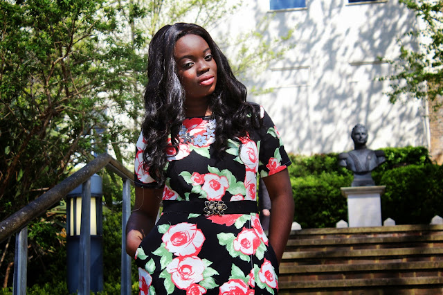FLORAL PLAYSUIT FROM MISSGUIDED