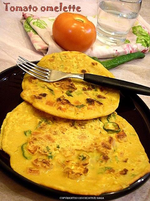 vegetarian tomato omelette recipe