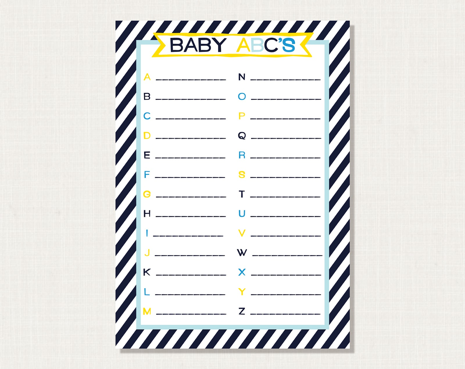 prickly press nautical baby shower game baby abc 39 s