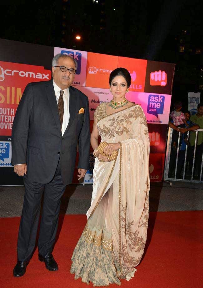 Sridevi and Boney Kapoor At SIIMA Awards 2014