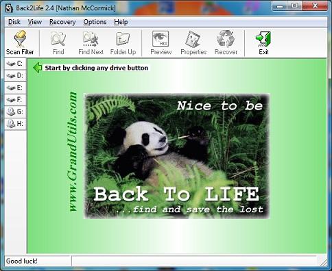 برنامج back2life لاسترجاع الملفات والصور المحذوفة من الموبايل والفلاشات