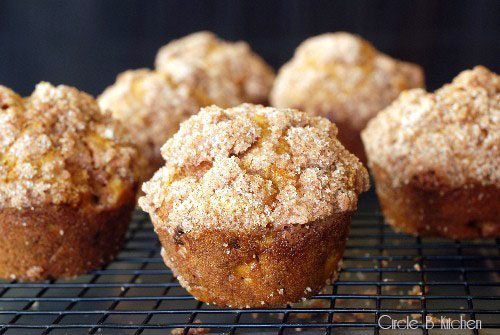 Riches to Rags* by Dori: Pumpkin Apple Streusel Muffins