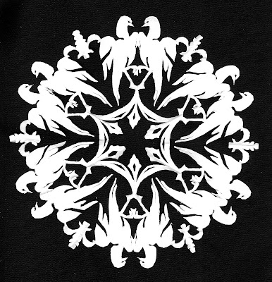 Maiolica, birds, Sarah Myers, S. Myers, Cut Paper, arte, medallion, majolica, mexican, antique, design, art, repeat, snowflake