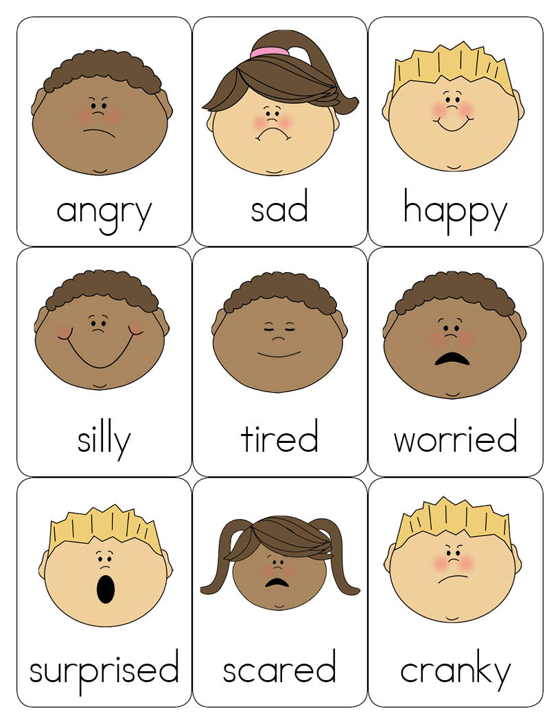 Influential image for feelings cards printable