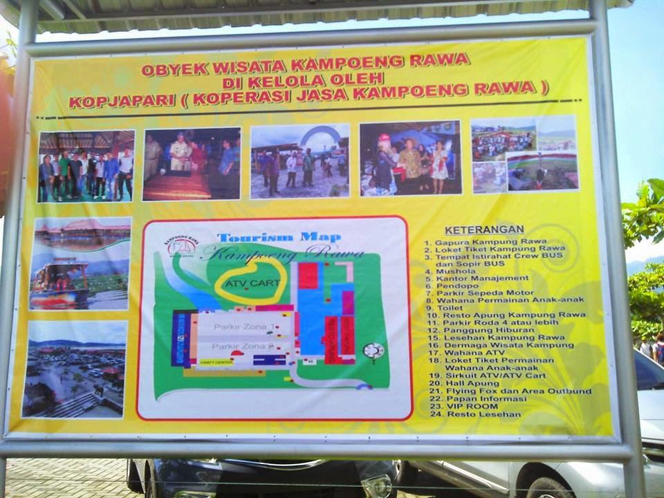 Peta Area Obyek Wisata Kampoeng Rawa
