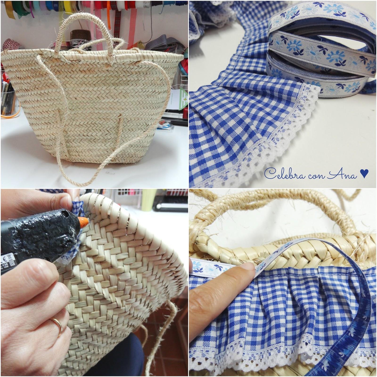 Celebra con ana compartiendo experiencias creativas cestos tuneados - Capazo mimbre playa ...