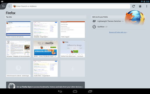 Firefox 2014 app Screenshot2 on Tablet