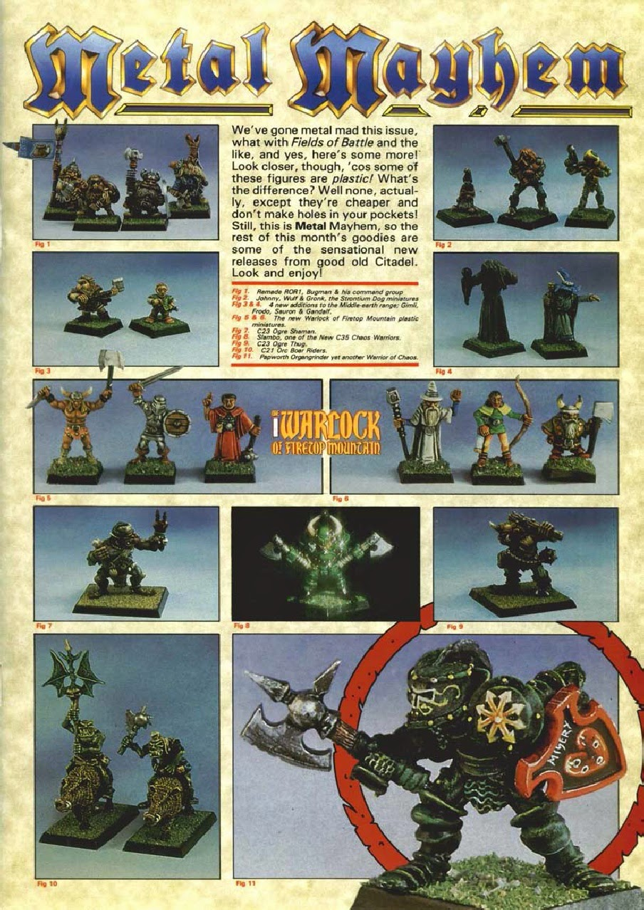 The models shown here are larely lifted from 'Eavy Metal articles from White Dwarf, even down to the red ring around that Chaos Warrior which I am pretty ...