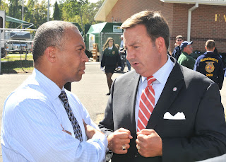 Governor Deval Patrick with ESE President Gene Cassidy