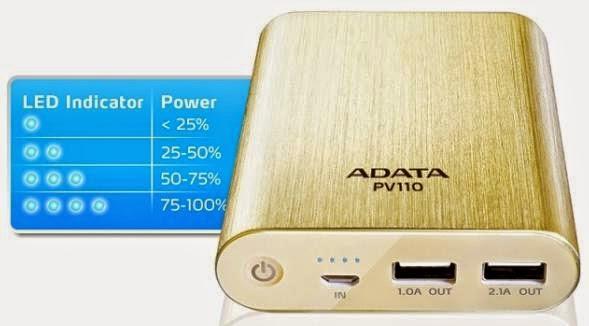 ADATA Launched Dual-Charging PV110 10400mAh Power Bank
