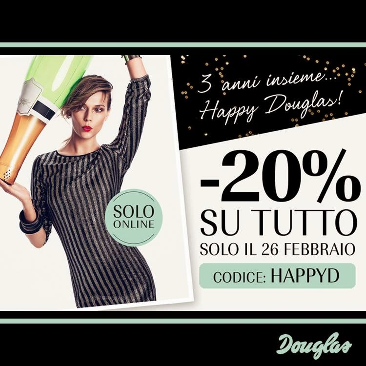 Douglas - Happy Hours sconto 20% solo oggi, solo online