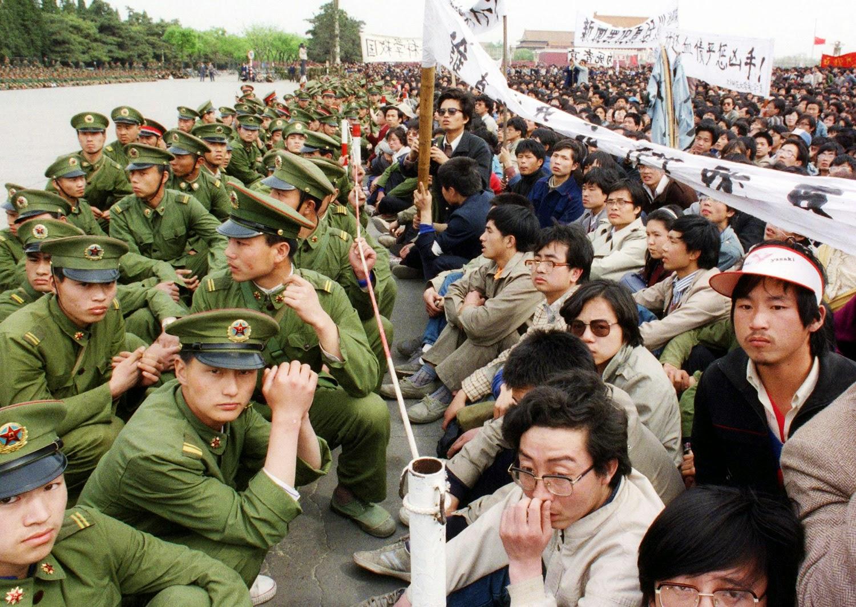 Manifestación Plaza de Tiananmén 1989