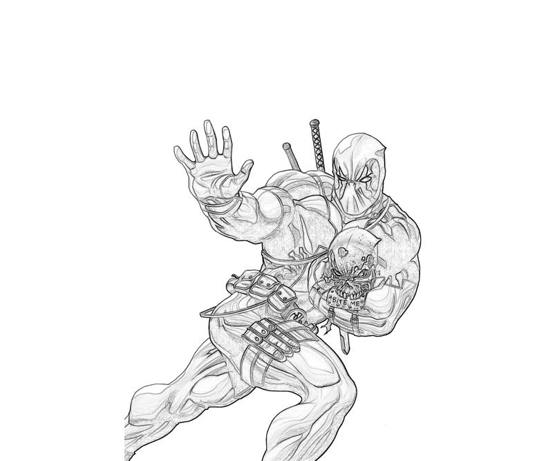free coloring pages of marvel ultimate deadpool