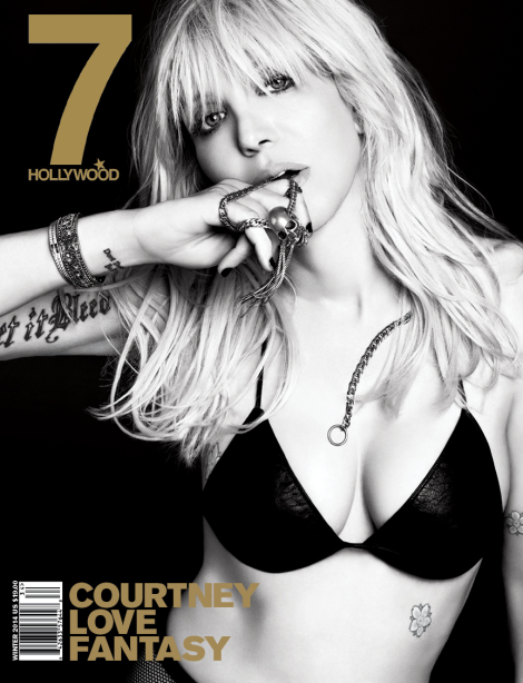 Courtney Love covers 7 Hollywood Magazine's Winter 2014