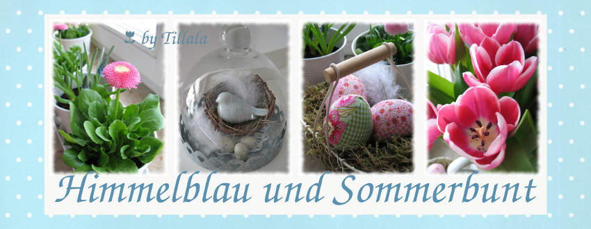 Himmelblau und Sommerbunt