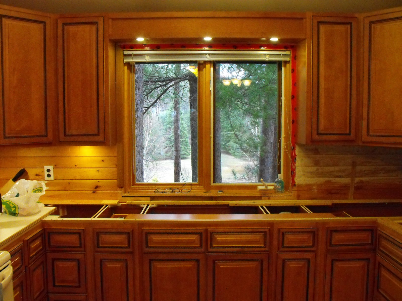 Windows Over Kitchen Cabinets