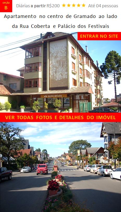 Apartamento centro lado Rua Coberta Palácio Festivais