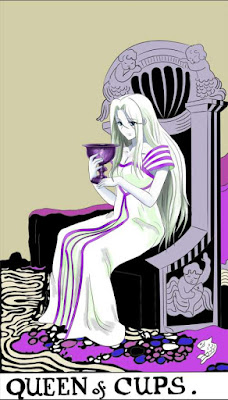 Tarot reading AQUARIUS Queen of Cups Tarot Card