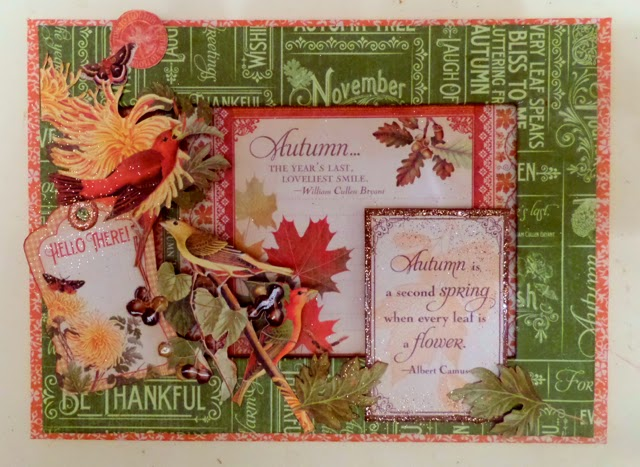 Time To Flourish Decorative Frame November Clare Charvill Jones Crafts Graphic 45