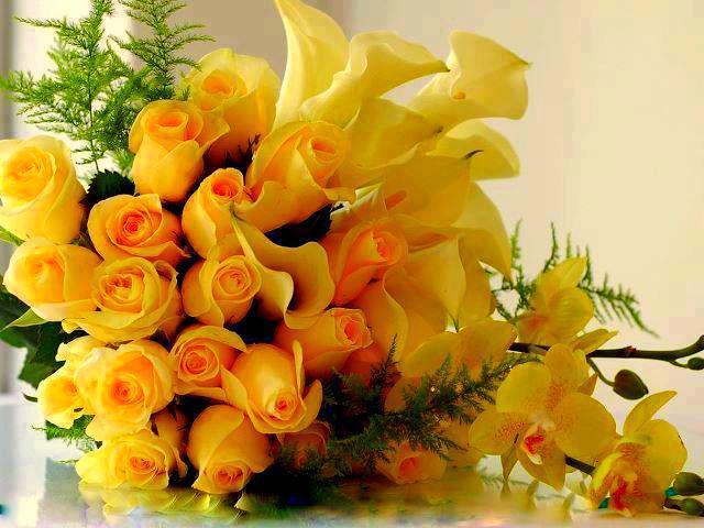 Красивые букеты роз с поздравлением