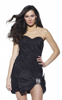 sweetheart-little-black-dress-with-strapless-bow-ruffled-design
