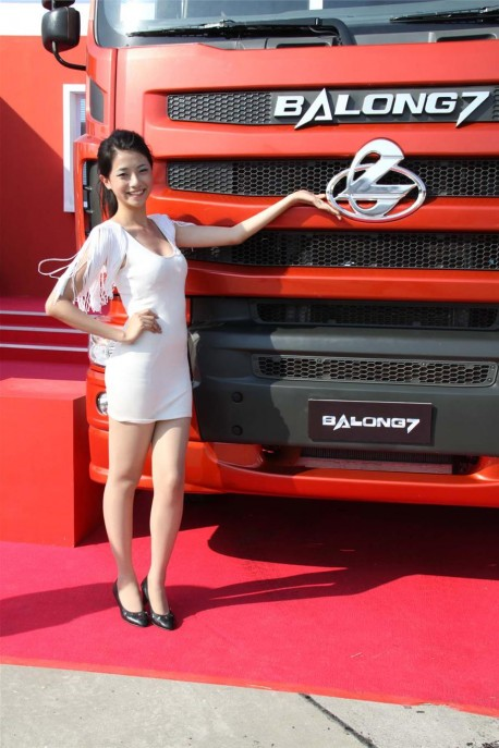 china trucks, model sexy girls, auto show china