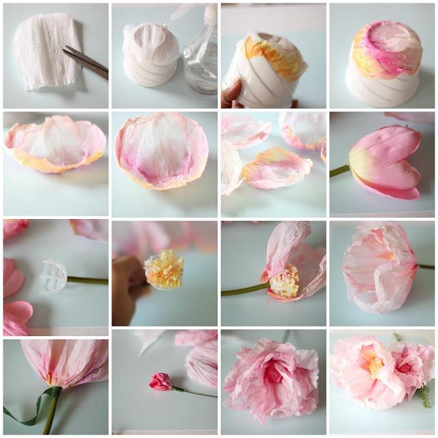 Картинки цветы из гофрированной бумаги 7