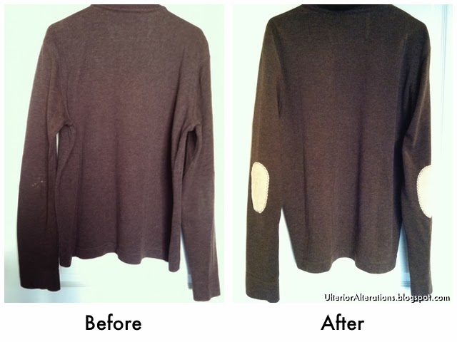 Ulterior Alterations: Elbow Patch Fix Before & After