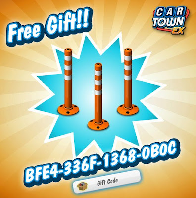 Car Town EX Free Gift Traffic Pole