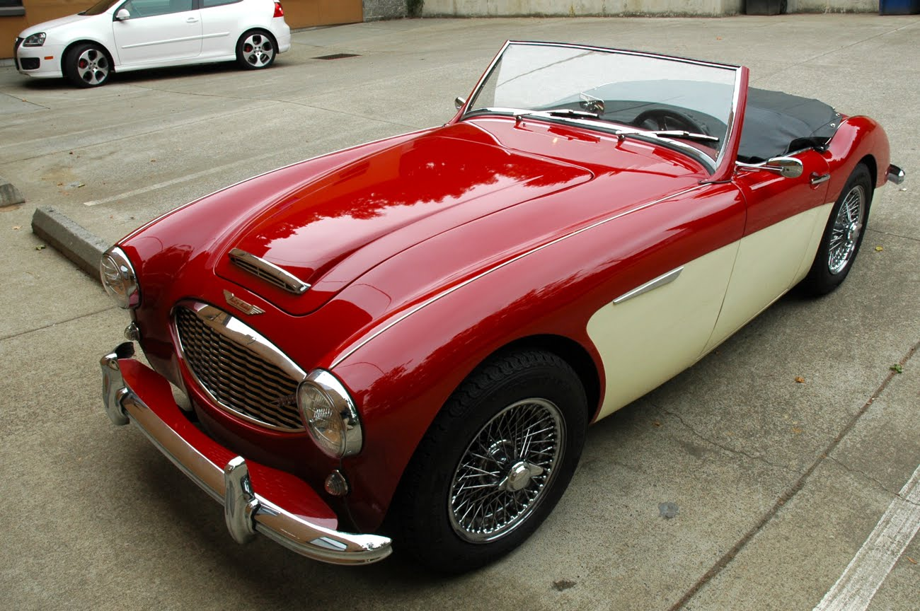 old parked cars 1960 austin healey 3000. Black Bedroom Furniture Sets. Home Design Ideas