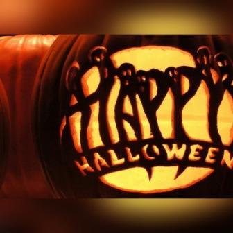 DP BBM Happy Halloween Gambar Statis Diam Biasa