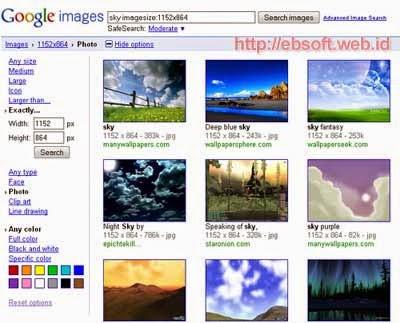 Cara Mudah Mencari Gambar Menurut Warna, Ukuran, dan Tipe Tertentu