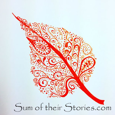 Swirl and dots leaf doodle