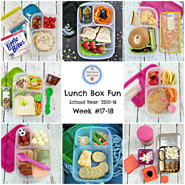 My Epicurean Adventures: Lunch Box Fun 2015-16: Week #17-18. Lunch box ideas, school lunch ideas, lunches