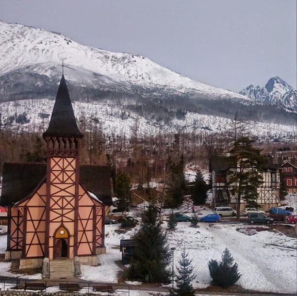View from GrandHotel Starý Smokovec Slovakia