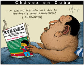 genial caricatura publicada en USA por el N.H. de Miami
