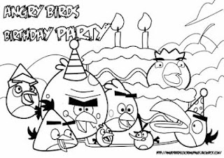 Coloring Pictures of Angry Bird