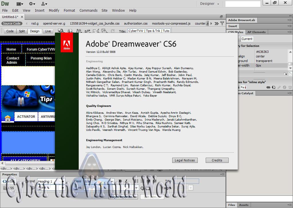 dreamweaver cs6 serial number download