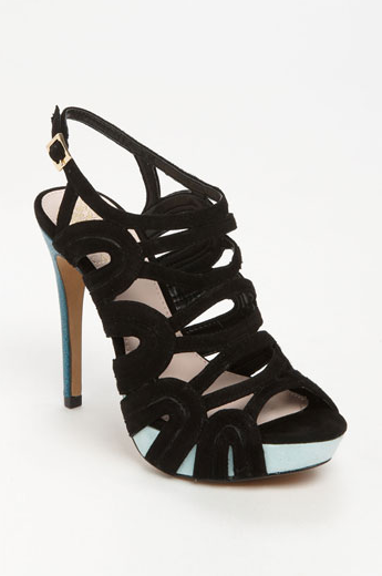They Are  Inch Heel With 1 Inch Platform They Are Very Comfortable Especially With The Soft Suede Caging Your Feet In