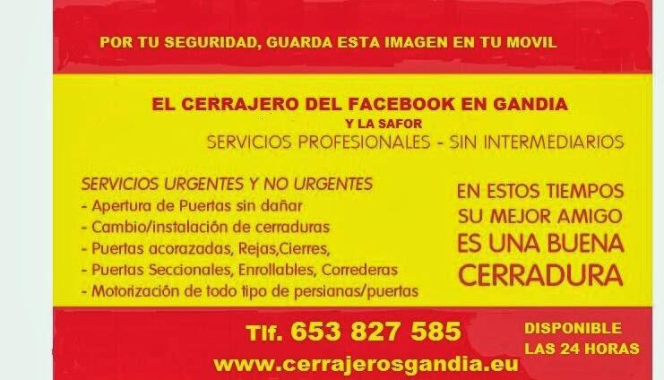 Cerrajero Urgente Gandia 653 827 585