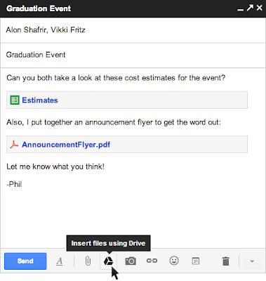 Gmail dan Drive - cara baru untuk mengirim file