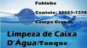Limpeza de Caixa D'Água em Campo Grande